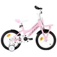 shumee Dětské kolo s předním nosičem 14'' bílo-růžové