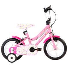 shumee Dětské kolo 12'' bílo-růžové