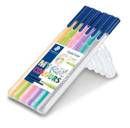 Staedtler flomastri Noris Club Triplus, 6/1, pastelne barve