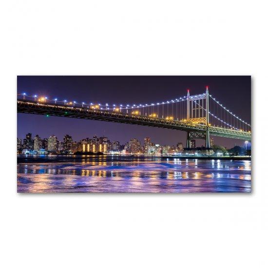 WALLMURALIA Foto-obraz fotografie na skle Most Now York 100x50 cm