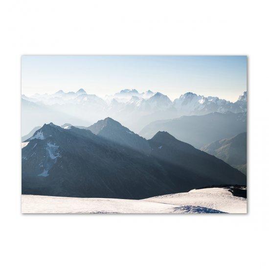 Fotoobraz na skle Horské vrcholy