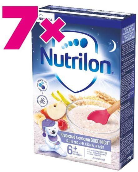 Nutrilon Krupicová kaše s ovocem GOOD NIGHT 225g, 6+