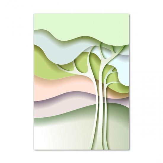 WALLMURALIA Foto obraz akrylový Abstraktní strom 70x100 cm
