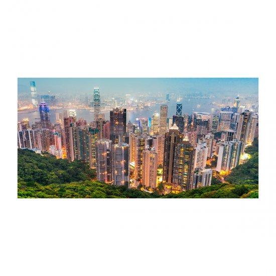 WALLMURALIA Foto obraz skleněný horizontální Hongkong 100x50 cm