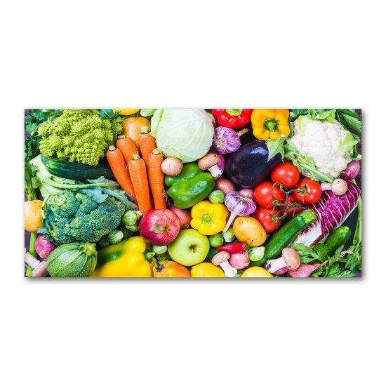Foto obraz skleněný horizontální Barevná zelenina