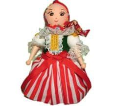 Kraftika Figurka z předené bavlny, holčička v kroji, ozdoba