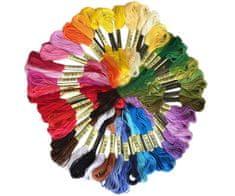 Kraftika Bavlnky na vyšívání, bavlněné, mix 50 barev