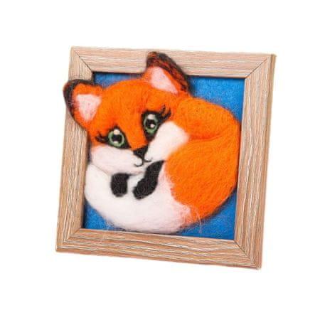 Kraftika Fox állati festés gyapjú filc diy készlet