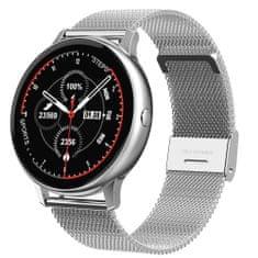 NEOGO DayFit D8 Pro, smart hodinky, strieborné/kovové