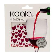 Koala KOALA Nálevka na víno set 4 ks srdce
