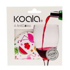 Koala KOALA Nálevka na víno set 4 ks plameňák