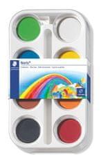 Staedtler vodene barvice Noris Club, ploščica 44 mm, 8 barv