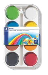 Staedtler vodene barvice Noris Club, ploščica 55 mm, 8 barv