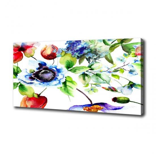 WALLMURALIA Moderní fotoobraz canvas na rámu Jarní květiny 100x50 cm