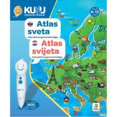 Kuku Zabavno Učenje knjiga Atlas svijeta, interaktivna