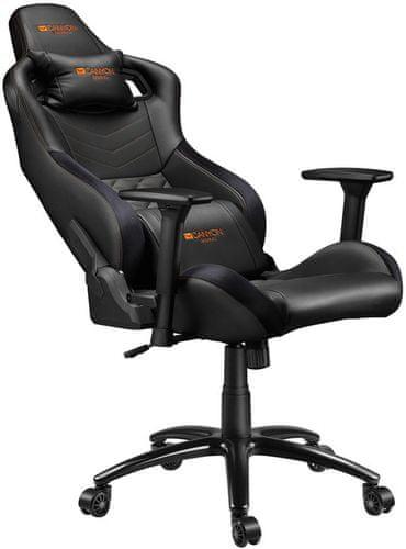 Židle Canyon Nightfall (CND-SGCH7). Herní, PU kůže, polyuretan 150kg nosnost