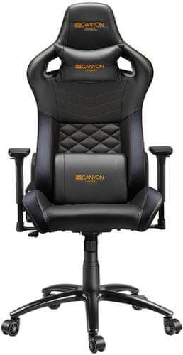 Židle Canyon Nightfall (CND-SGCH7). Herní, PU kůže, 3D područky, sklon opěradla až 160°