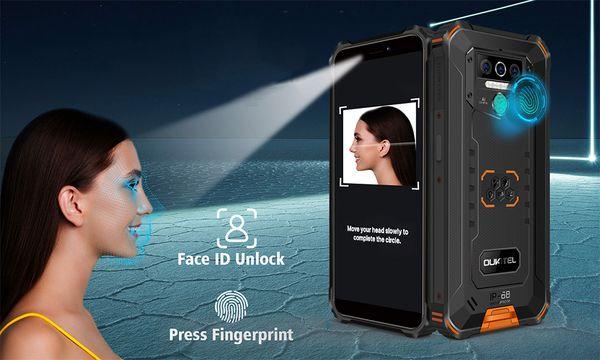 Oukitel WP5, čtečka otisků prstů, rozpoznání obličeje, odemykání obličejem