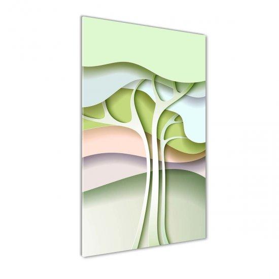WALLMURALIA Foto obraz akrylový Abstraktní strom 50x100 cm