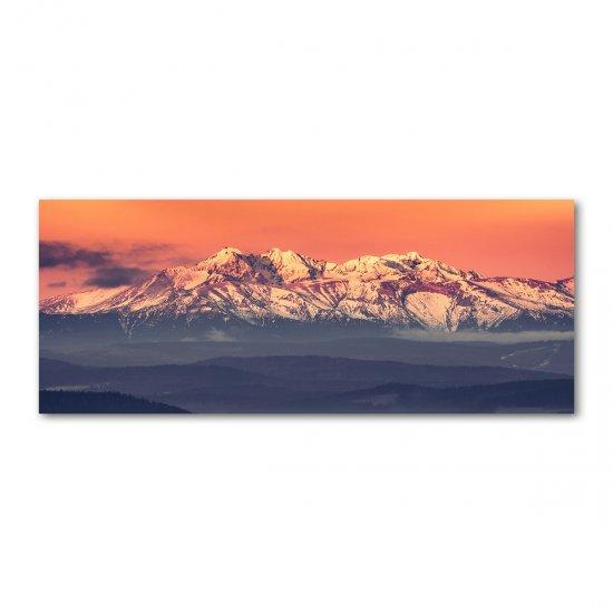 Foto obraz akrylový na stěnu Východ slunde Tatry
