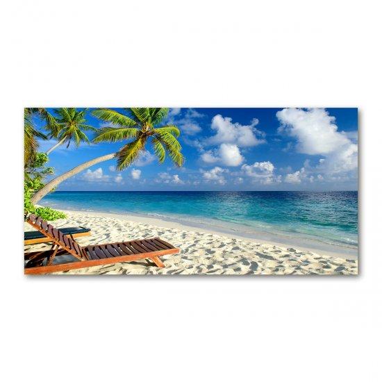 WALLMURALIA Foto obraz akrylový do obýváku Tropická pláž 100x50 cm
