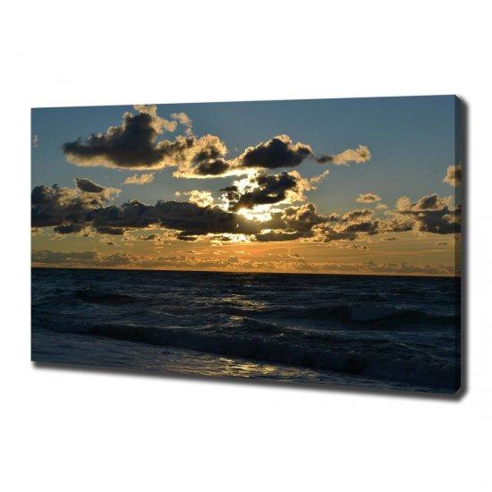WALLMURALIA Foto obraz na plátně Západ nad mořem 100x70 cm