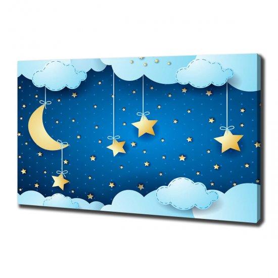 WALLMURALIA Foto obraz na plátně do obýváku Noční nebe 100x70 cm