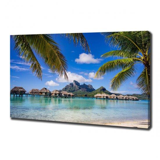 Foto obraz canvas Palmy na Bora Bora