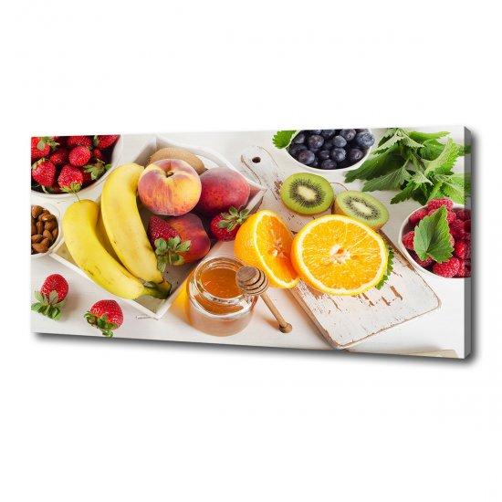 Moderní obraz canvas na rámu Ovoce a med