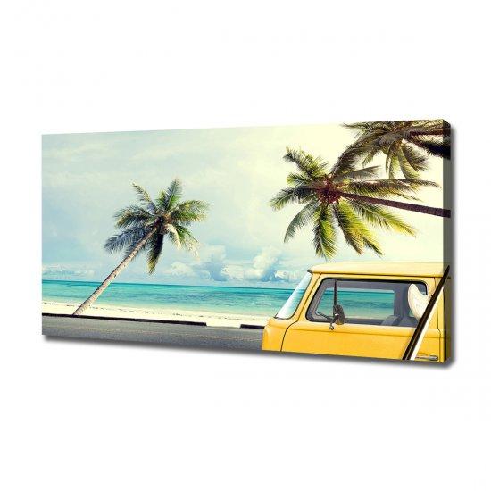 Foto obraz na plátně Dodávka pláž