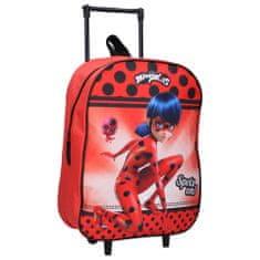 """Vadobag Gyerek utazási bőrönd kerekeken """"Miraculous"""" - piros"""