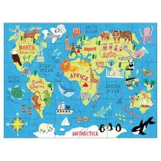 Mudpuppy Puzzle Mapa sveta 36ks vo vaku