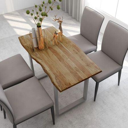 slomart Jedilna miza 118x58x76 cm trden akacijev les