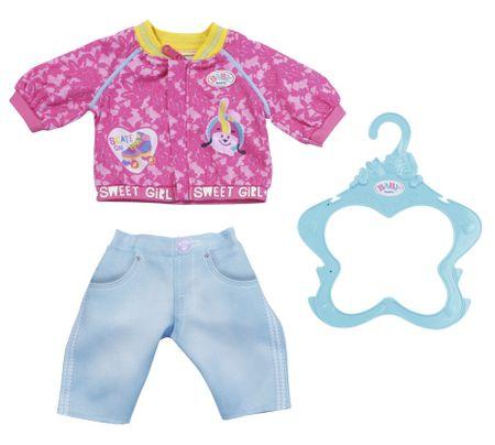 BABY born Nővér Kabát és nadrág, 43 cm, rózsaszín kabát