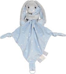 My Teddy Plyšový zajíček muchláček - modrý