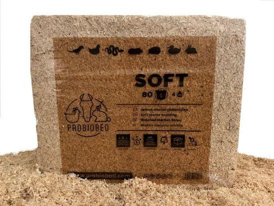 ProBioBED SOFT 80 litrů - jemná sterilní bezprašná podestýlka, hlodavci