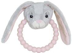 My Teddy Zajačik - silikónové hryzátko ružové