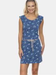 Ragwear modré květované šaty Tamy
