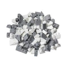 Kreativní set střechy bílo-šedé 120 ks