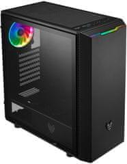 FSP group Fortron CMT350, priehľadná bočnica, 1x RGB LED 120 mm, čierna