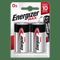 Energizer Baterie LR20/D ENERGIZER MAX 2ks (blistr)