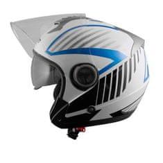 A-Pro Openline Jet kaciga, bijela/plava