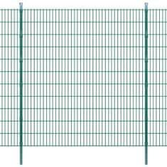 2D Panele i słupki ogrodzeniowe 2008x2230 mm 30 m zielone