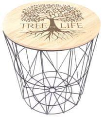 Sifcon Přídavný stolek STROM ŽIVOTA, 40x40 cm