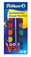 Pelikan akvarel vodene barvice, 12 barv + čopič