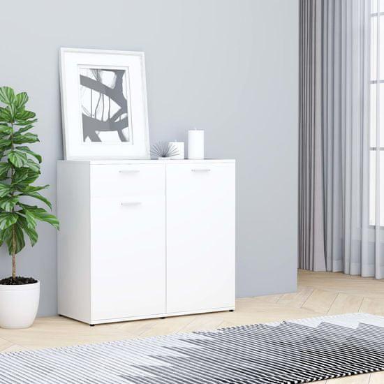 Komoda, biela 80x36x75 cm, drevotrieska