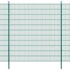 2D Panele i słupki ogrodzeniowe 2008x2230 mm 32 m zielone