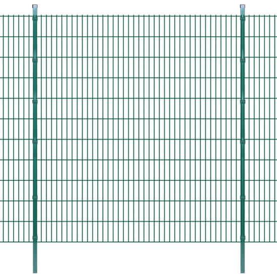 2D Zahradní plotové dílce a sloupky 2008x2230 mm 24 m zelené