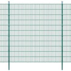 2D Panele i słupki ogrodzeniowe 2008x2230 mm 26 m zielone