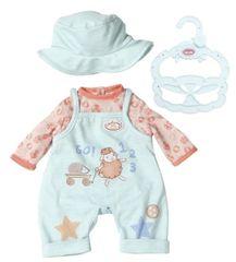 Baby Annabell Little Baby oblačilo, modre hlače z laclem, 36 cm